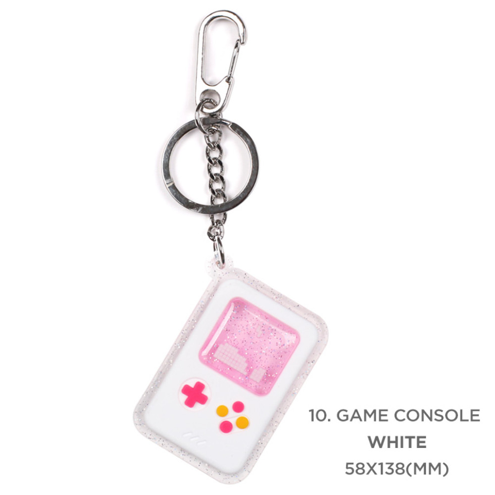 10 game console white - 90s coolkids party epoxy keyring keychain