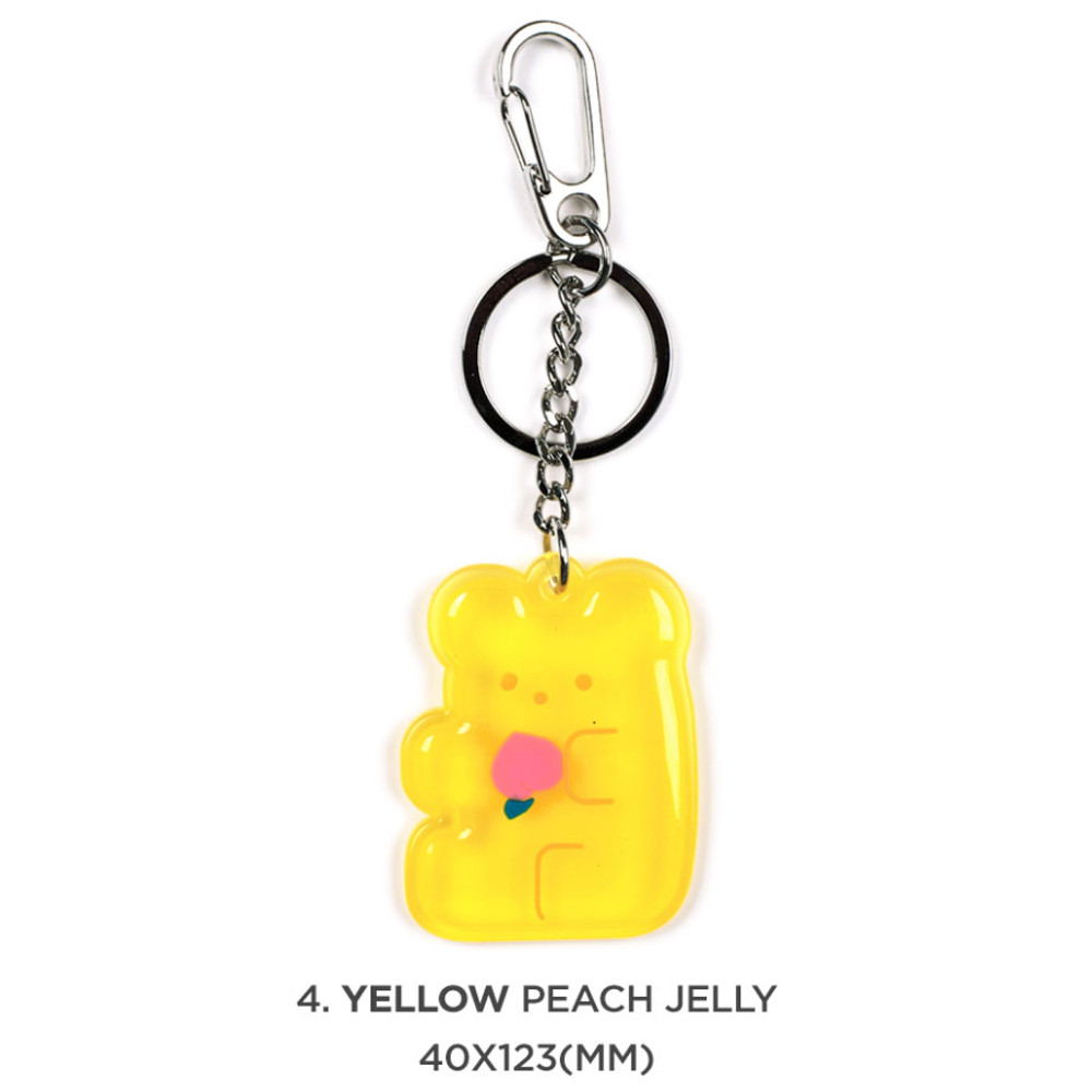 04 yellow peach jelly - 90s coolkids party epoxy keyring keychain