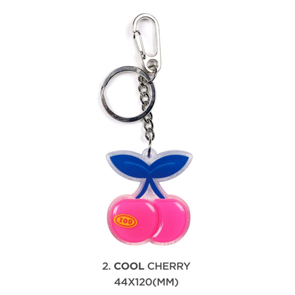 01 cool cheery - 90s coolkids party epoxy keyring keychain