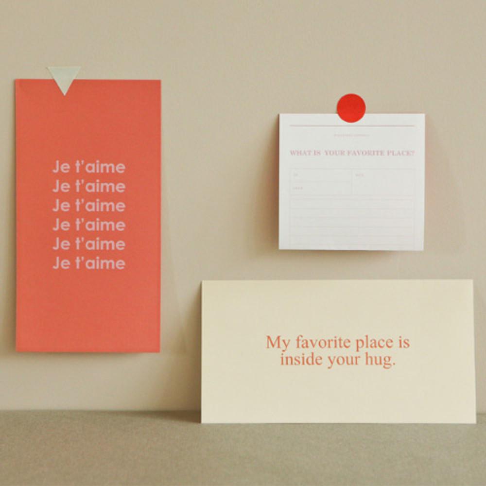 Dailylike Choice message letter envelope set