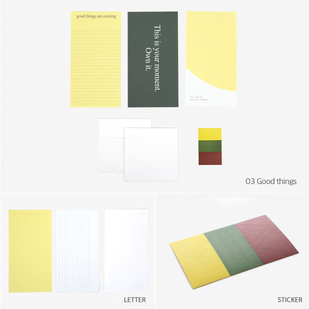 Good things - Dailylike Choice message letter envelope set