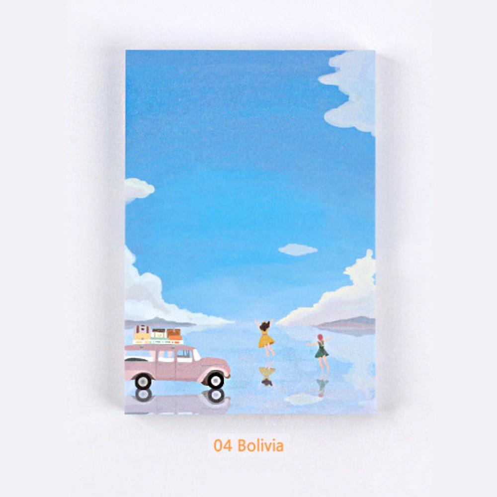 04 Bolivia - The Bon Bon Jour trois fois heureux memo notepad ver2
