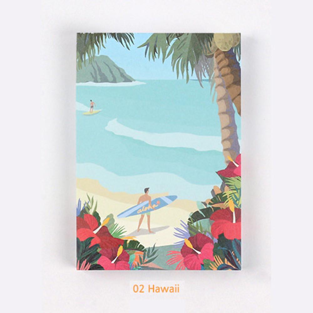 02 Hawaii - The Bon Bon Jour trois fois heureux memo notepad ver2