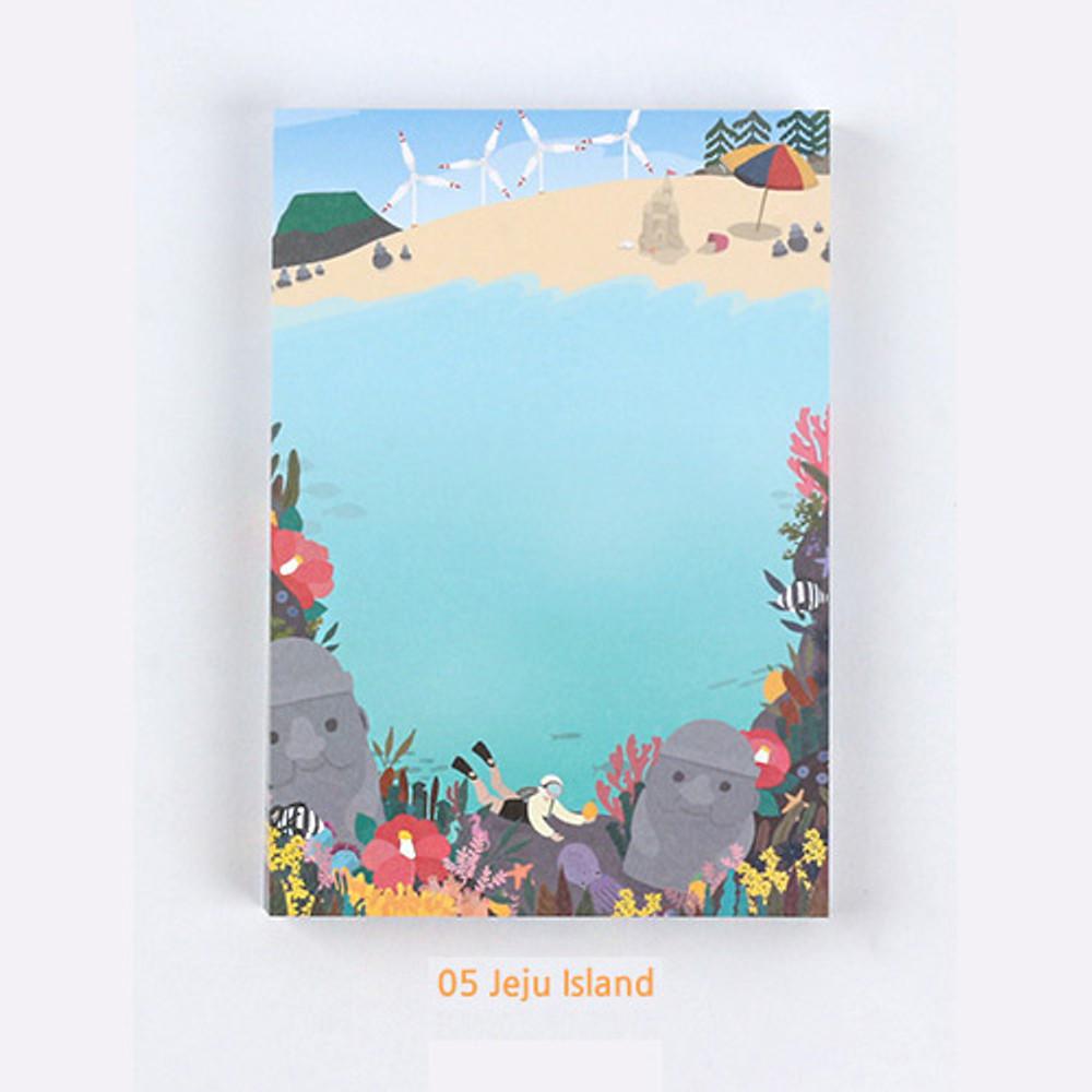 05 Jeju island - The Bon Bon Jour trois fois heureux memo notepad ver2
