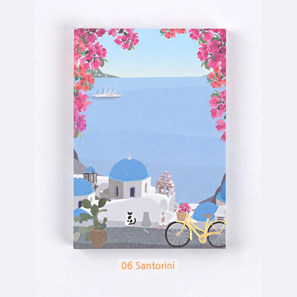 06 Santorini - The Bon Bon Jour trois fois heureux memo notepad ver2