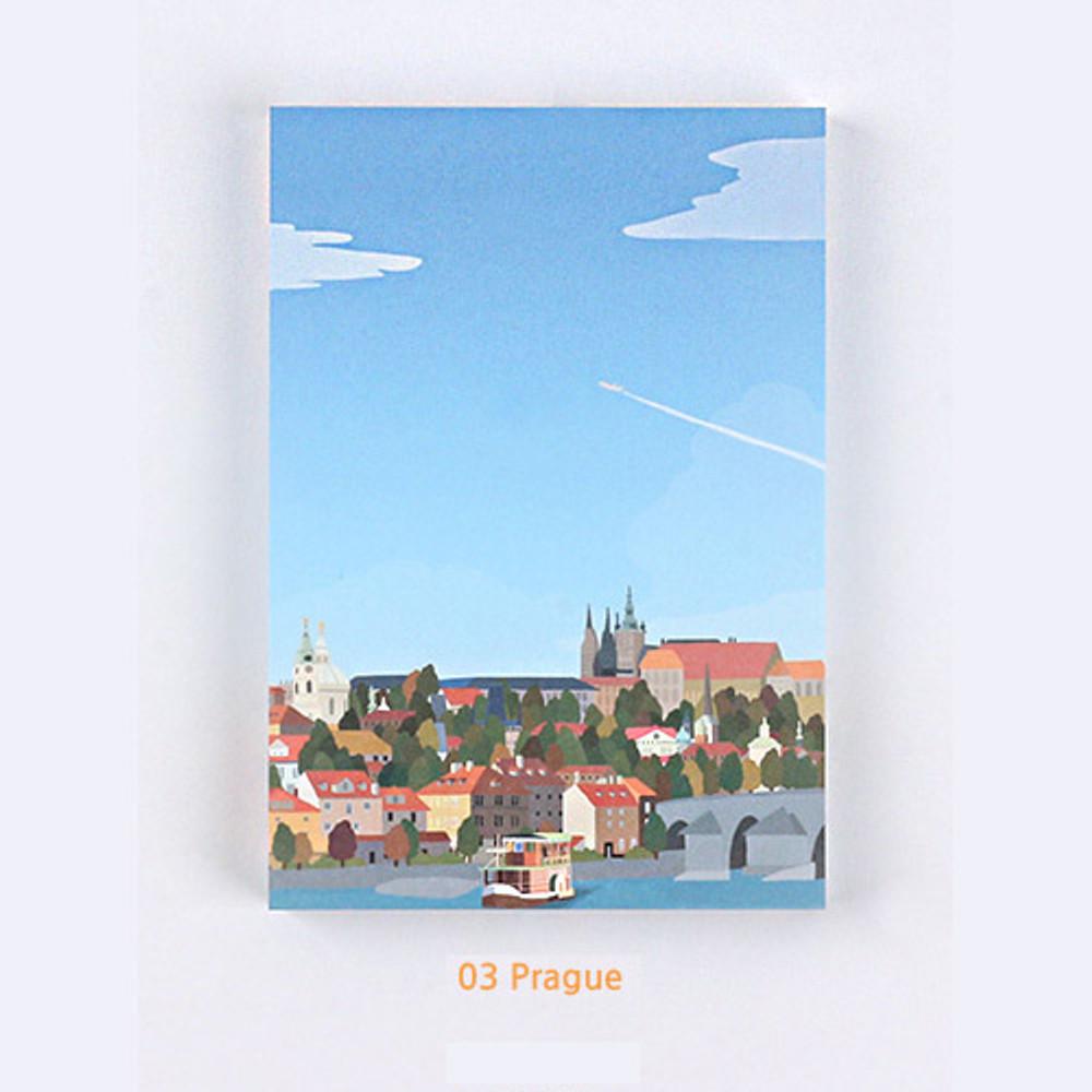 03 Prague - The Bon Bon Jour trois fois heureux memo notepad ver2