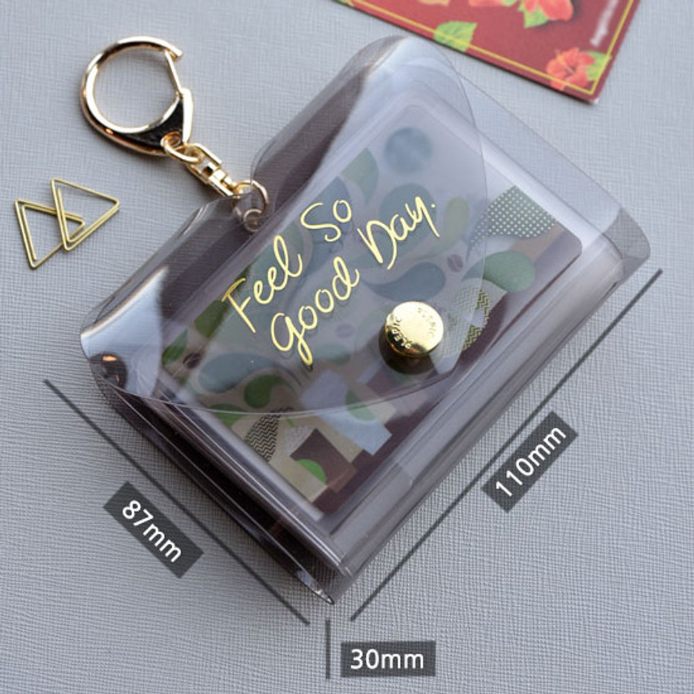 Size - Play obje Feel so good shine card case book with key ring