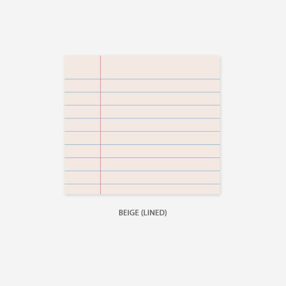 Lined - beige - PAPERIAN Lifepad small writing memo notepad