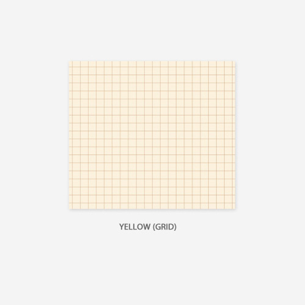 Grid - yellow - PAPERIAN Lifepad small writing memo notepad