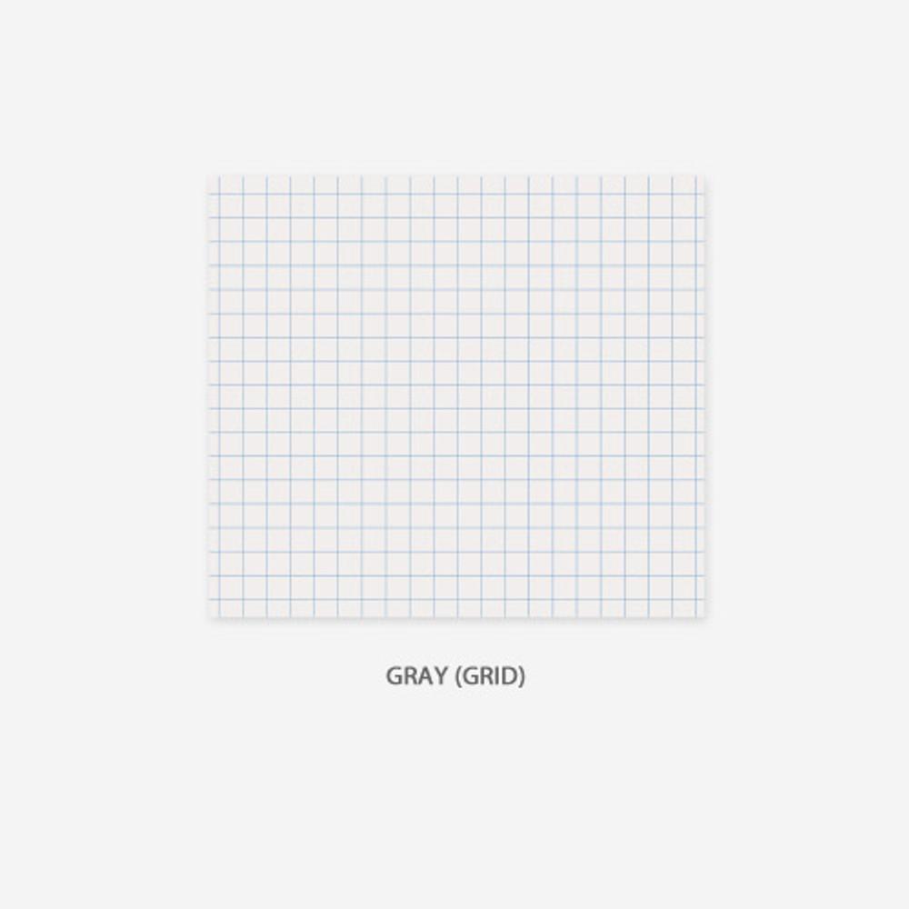 Grid - gray - PAPERIAN Lifepad small writing memo notepad