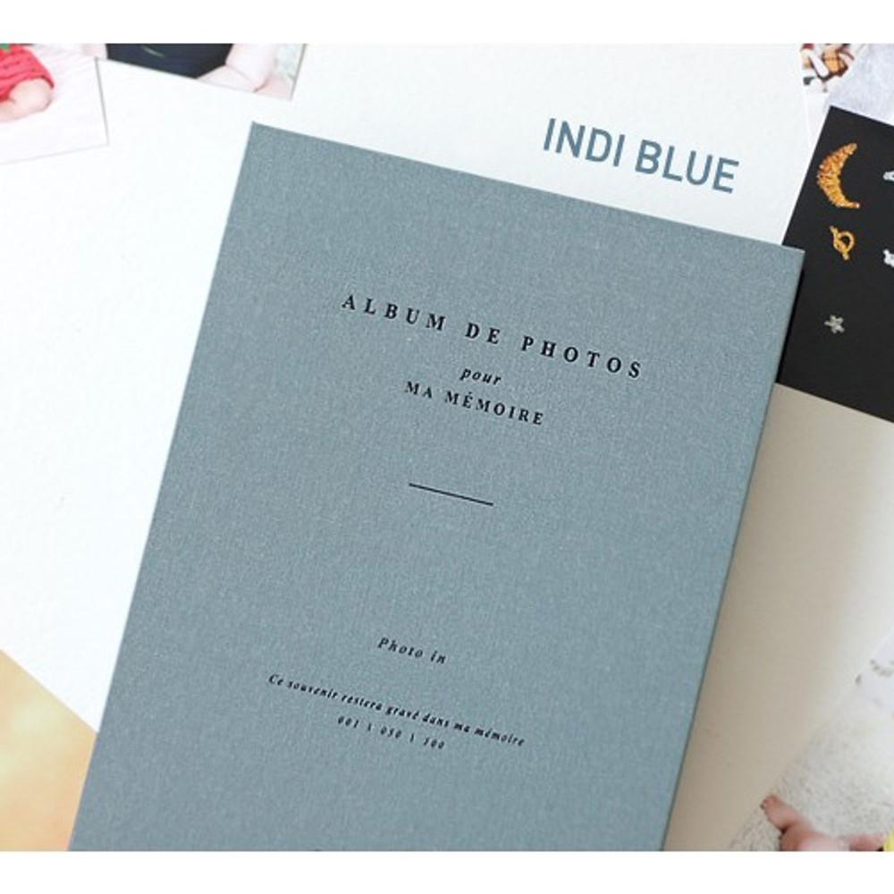 Indi blue - Album de photos 4X6 slip in pocket photo album