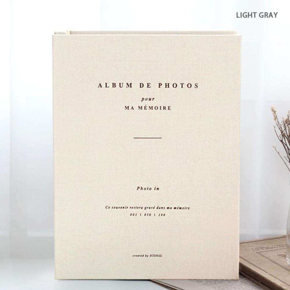Light gray - Album de photos 4X6 slip in pocket photo album