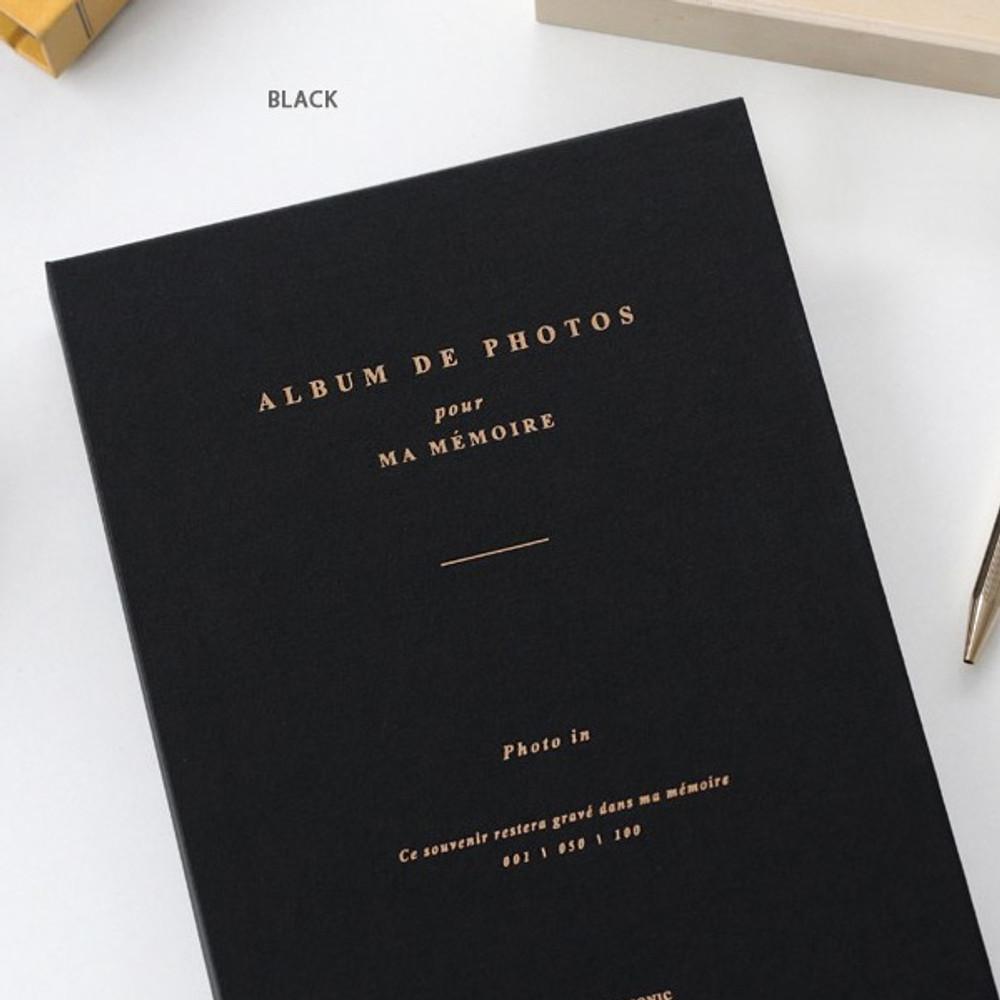 Black - Album de photos 4X6 slip in pocket photo album
