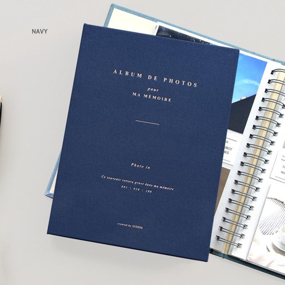 Navy - Album de photos 4X6 slip in pocket photo album