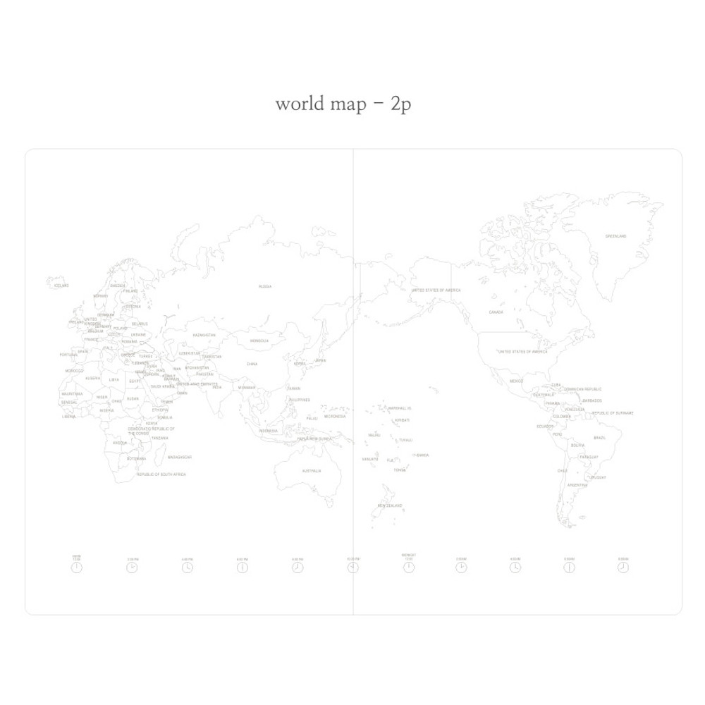 World map - Livework Moment large lined notebook ver3