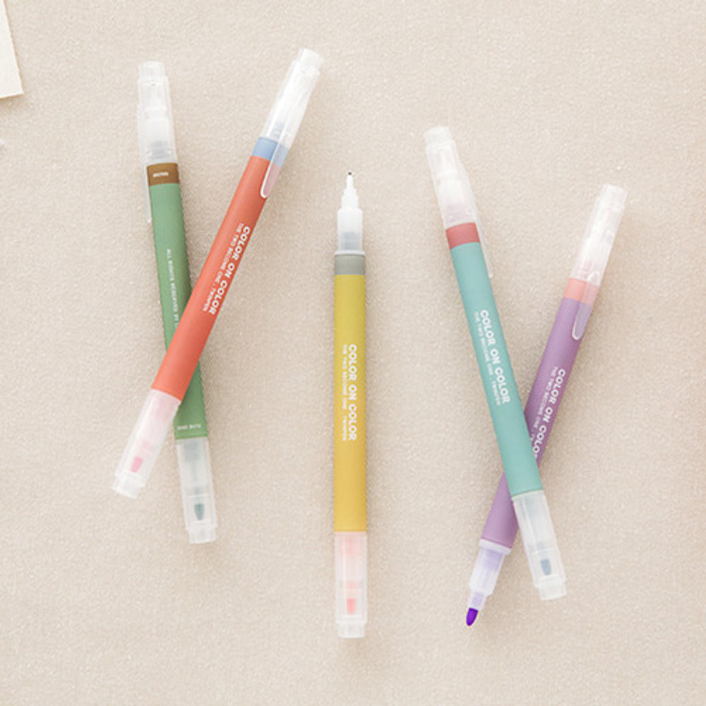 Livework Vintage 10 Colors double ended color gel pen set