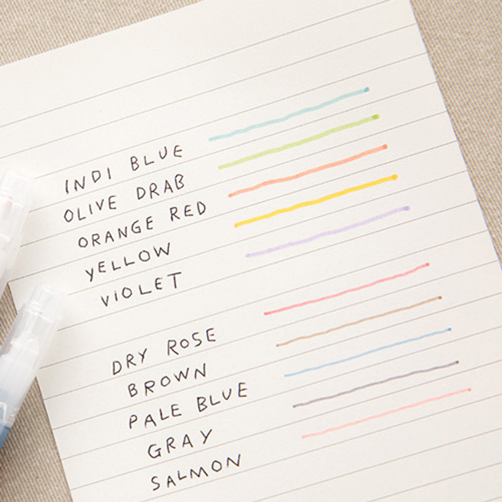 Example of use - Livework Vintage 10 Colors double ended color gel pen set