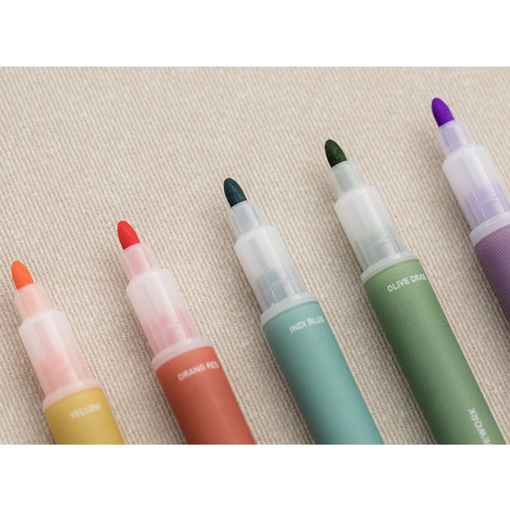 Wide tip - Livework Vintage 10 Colors double ended color gel pen set