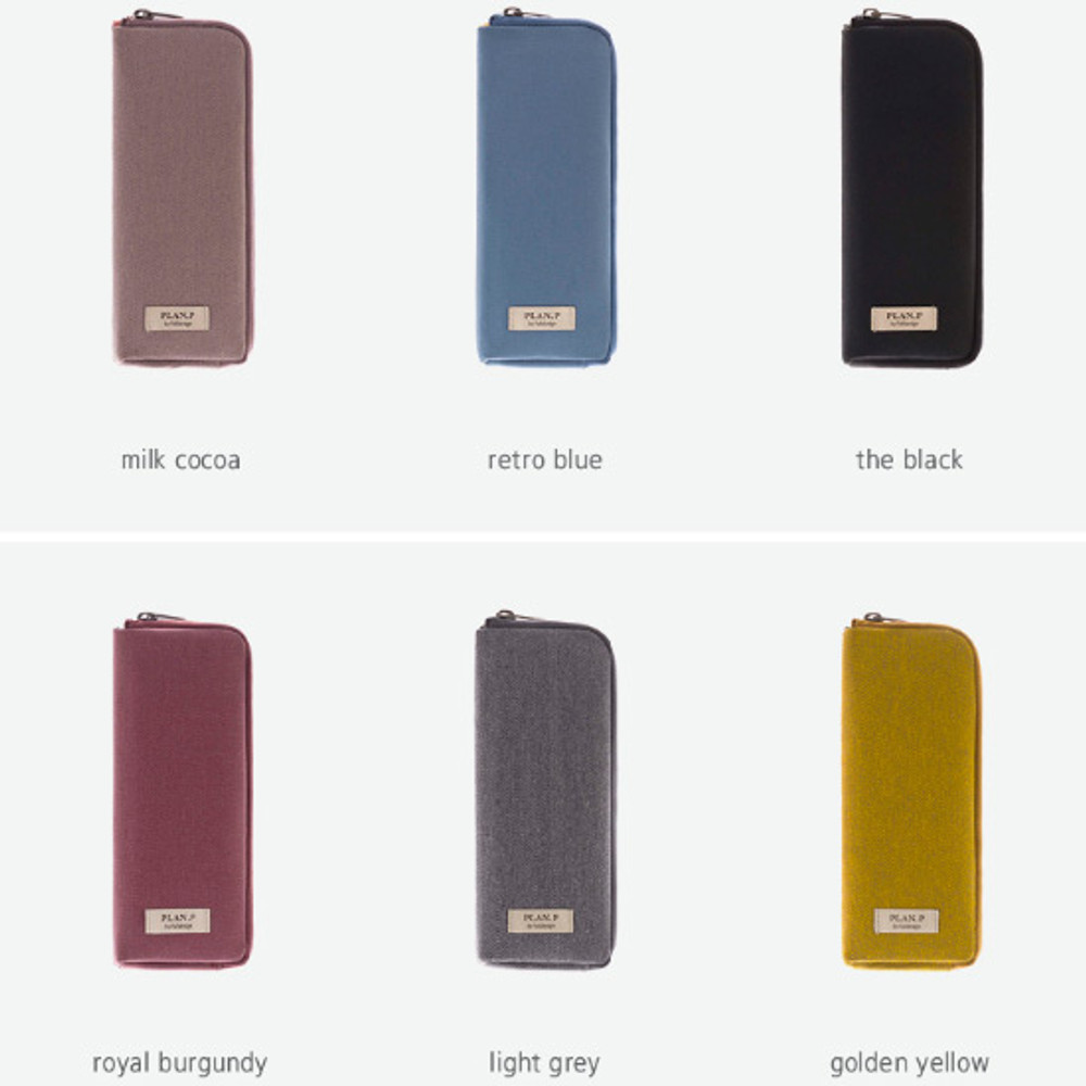 Colors of Oxford half zip around pocket pencil pouch