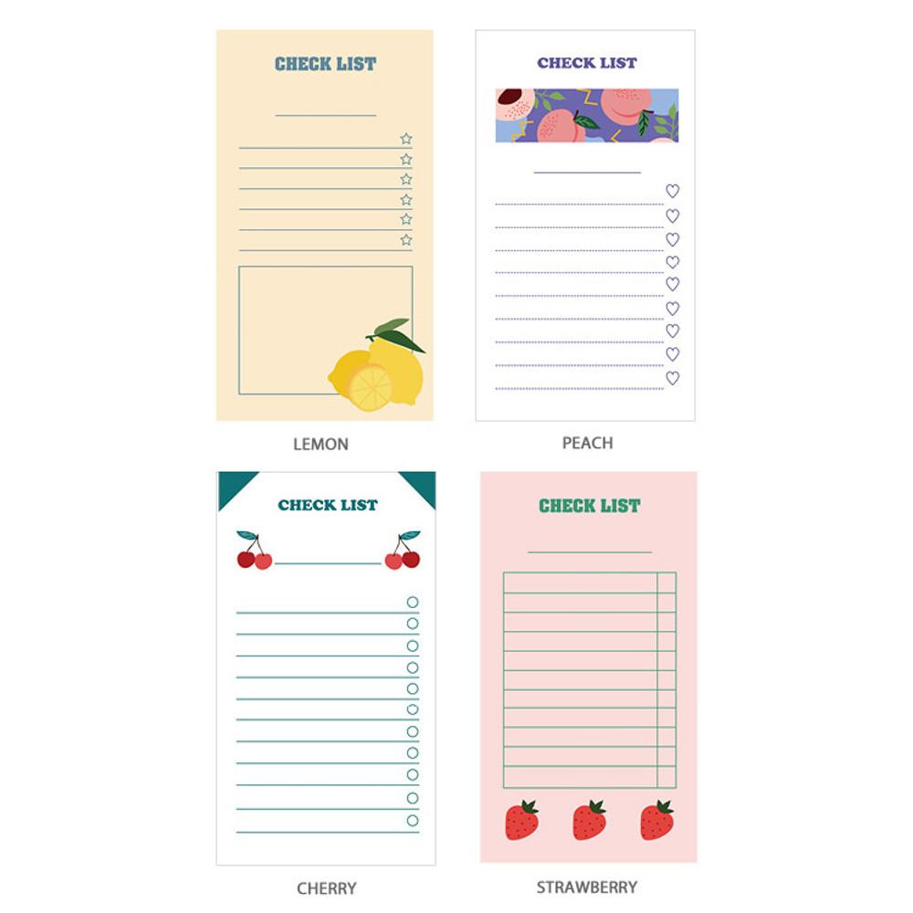 Option - Ardium Fruit checklist to do list memo notepad