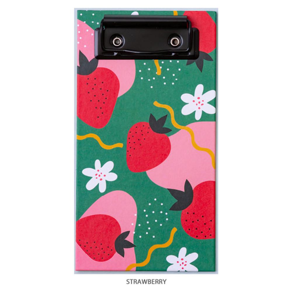 Strawberry - Ardium Fruit pattern notepad clipboard file folder