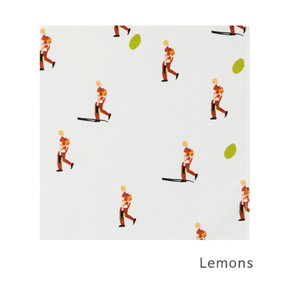 Lemons - Livework Illustration pattern squared edge hankie handkerchief