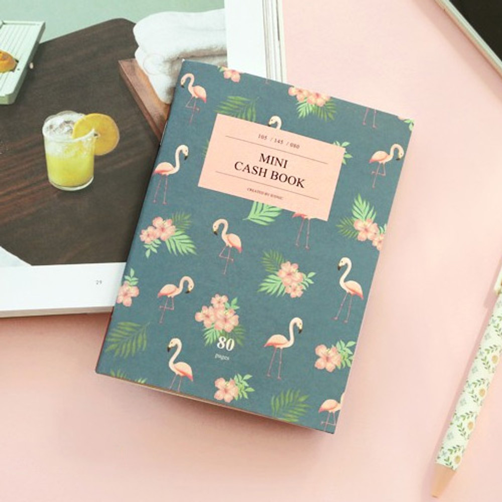 ICONIC Flamingo A6 size cash book planner