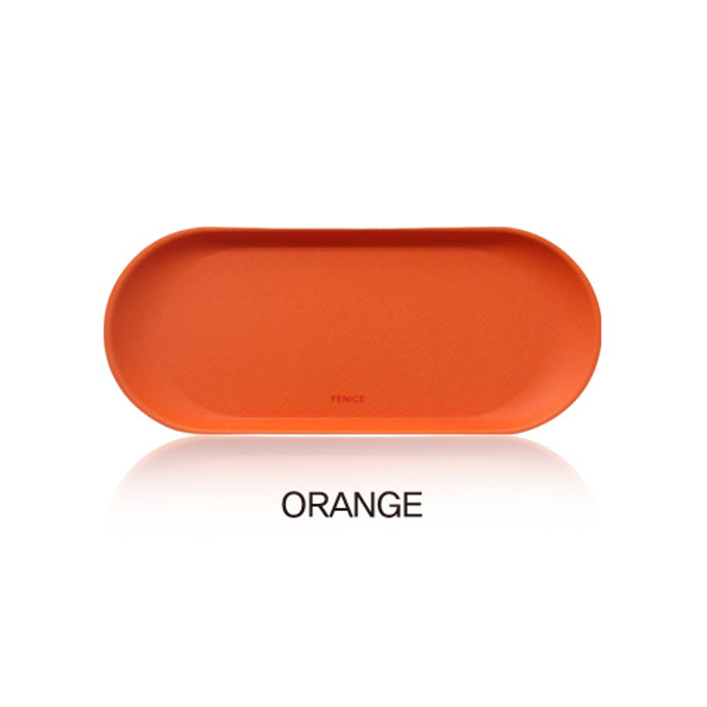 Orange - Fenice Premium business PU pencil pen tray