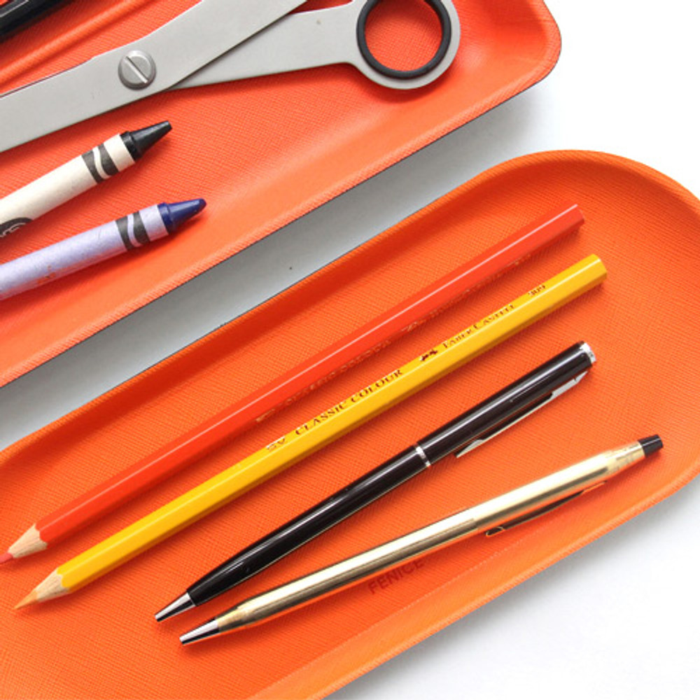 Example of use - Fenice Premium business PU pencil pen tray