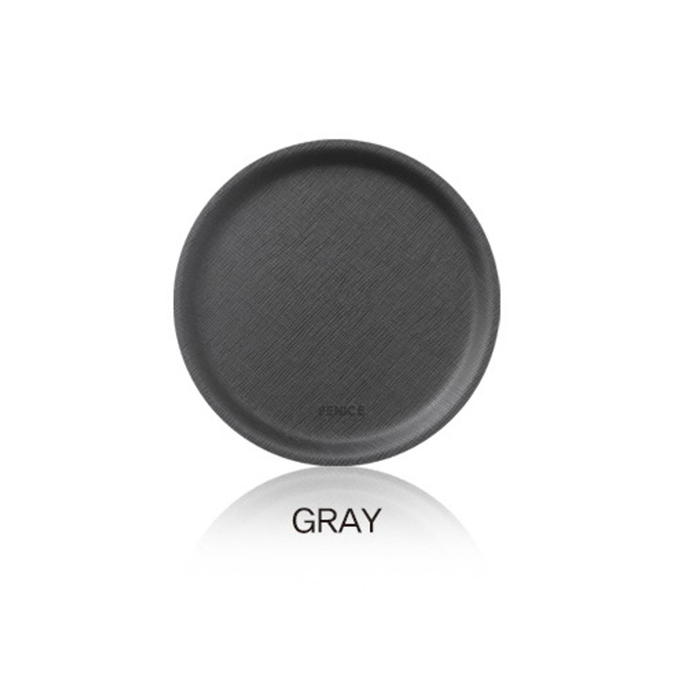 Gray - Fenice Premium PU drink coaster small tray