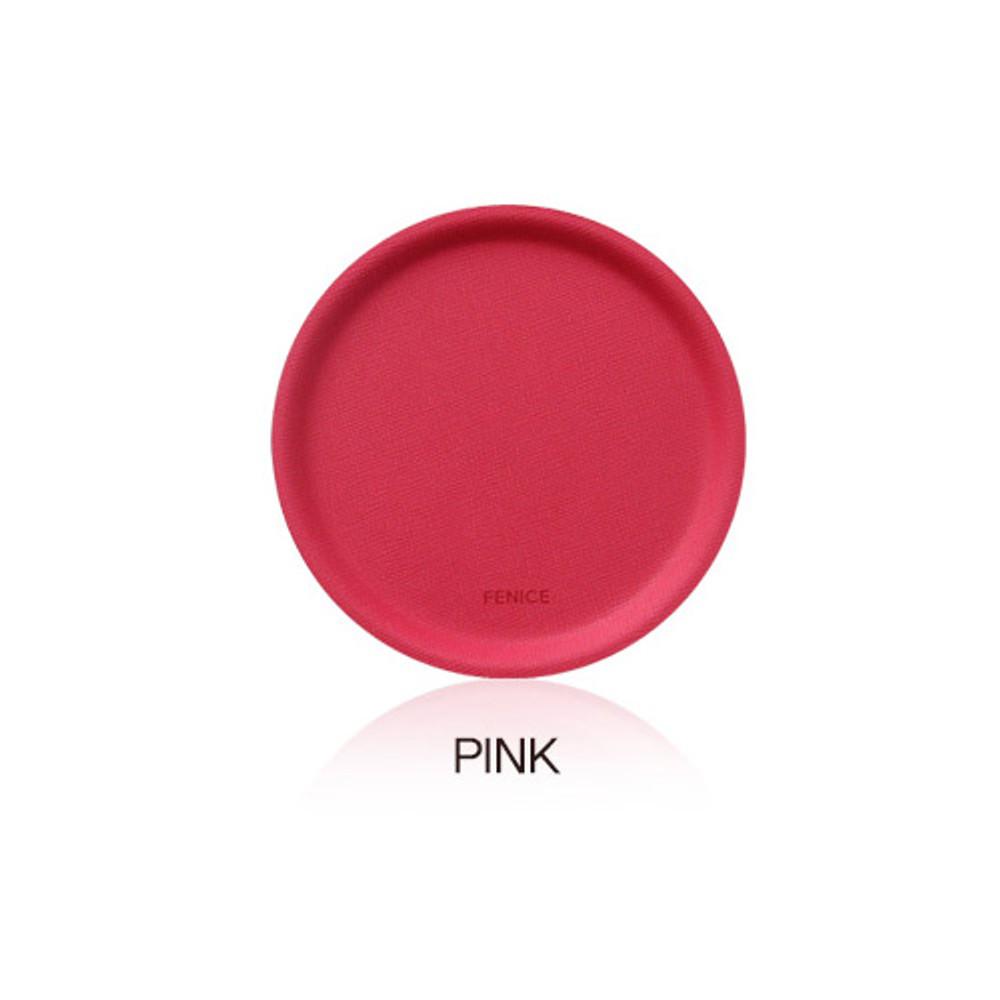 Pink - Fenice Premium PU drink coaster small tray