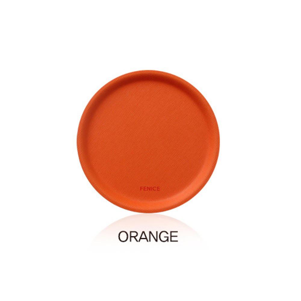 Orange - Fenice Premium PU drink coaster small tray