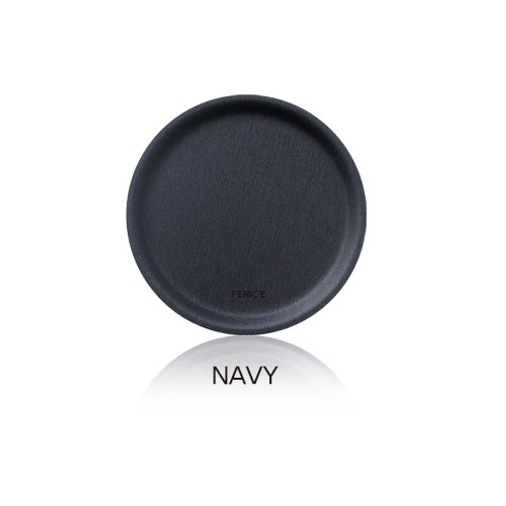 Navy - Fenice Premium PU drink coaster small tray