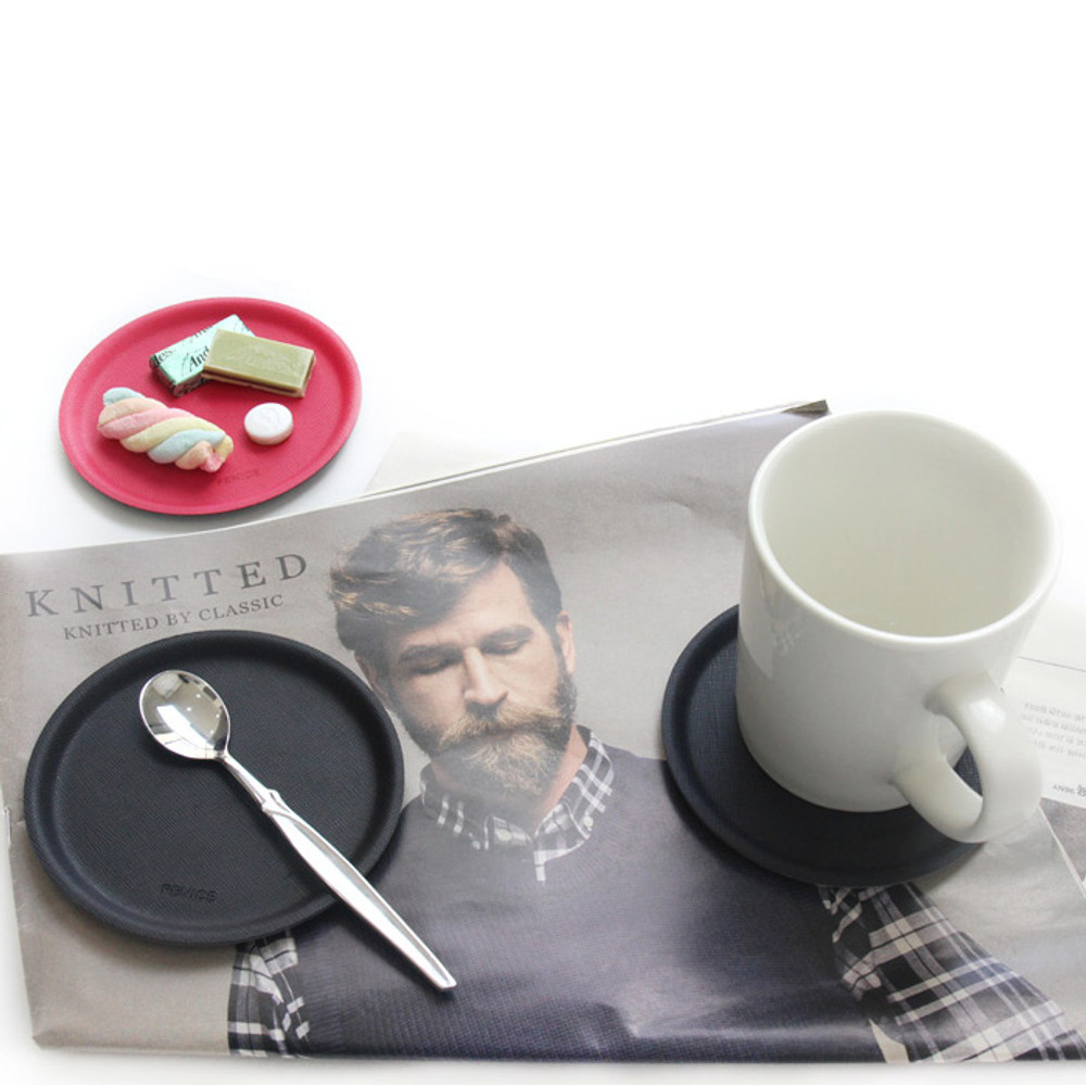 Example of use - Fenice Premium PU drink coaster small tray