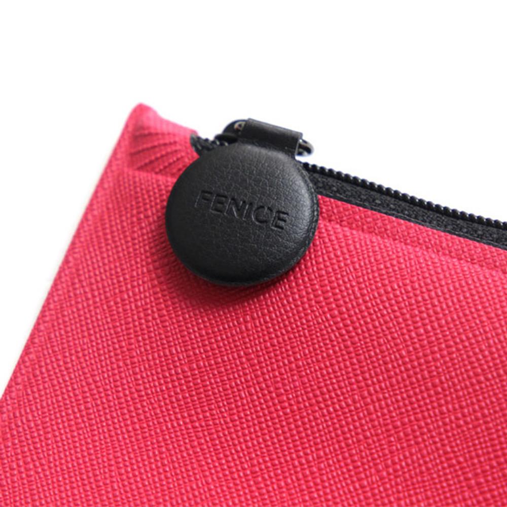 Zipper pouch - Fenice Premium PU seamless pen pencil case pouch