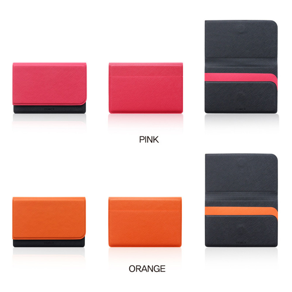 Color - Fenice Premium business PU cover card case pocket