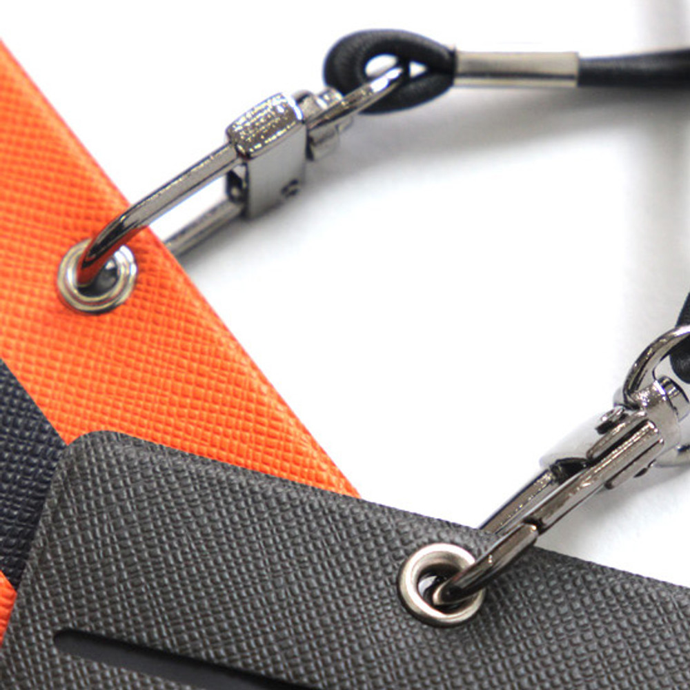 detachable strap - Fenice Premium PU business pocket card case with neck strap