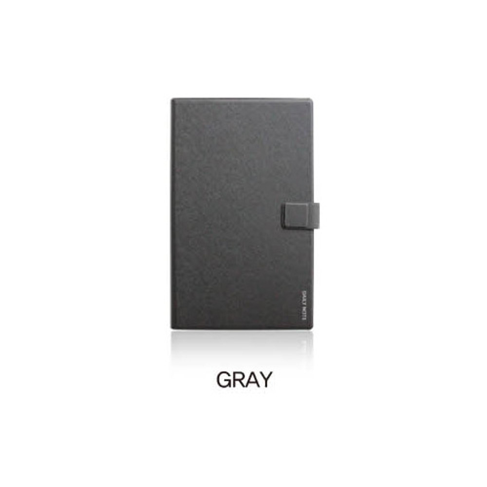 Gray - Fenice Premium business PU cover medium dotted notebook
