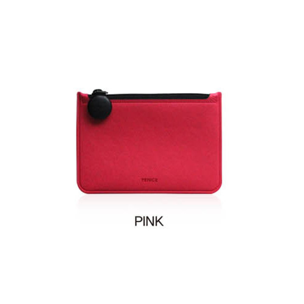 Pink - Fenice Premium PU seamless small pouch bag