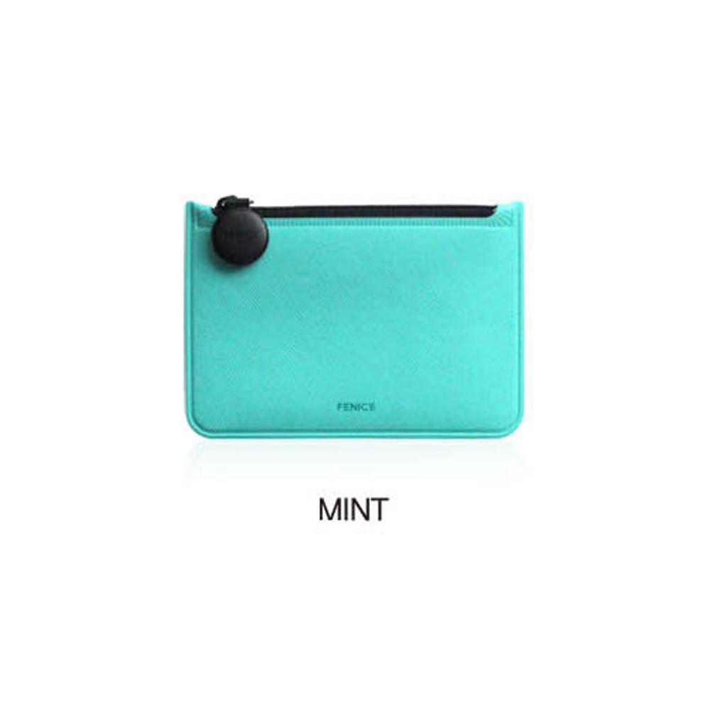 Mint - Fenice Premium PU seamless small pouch bag