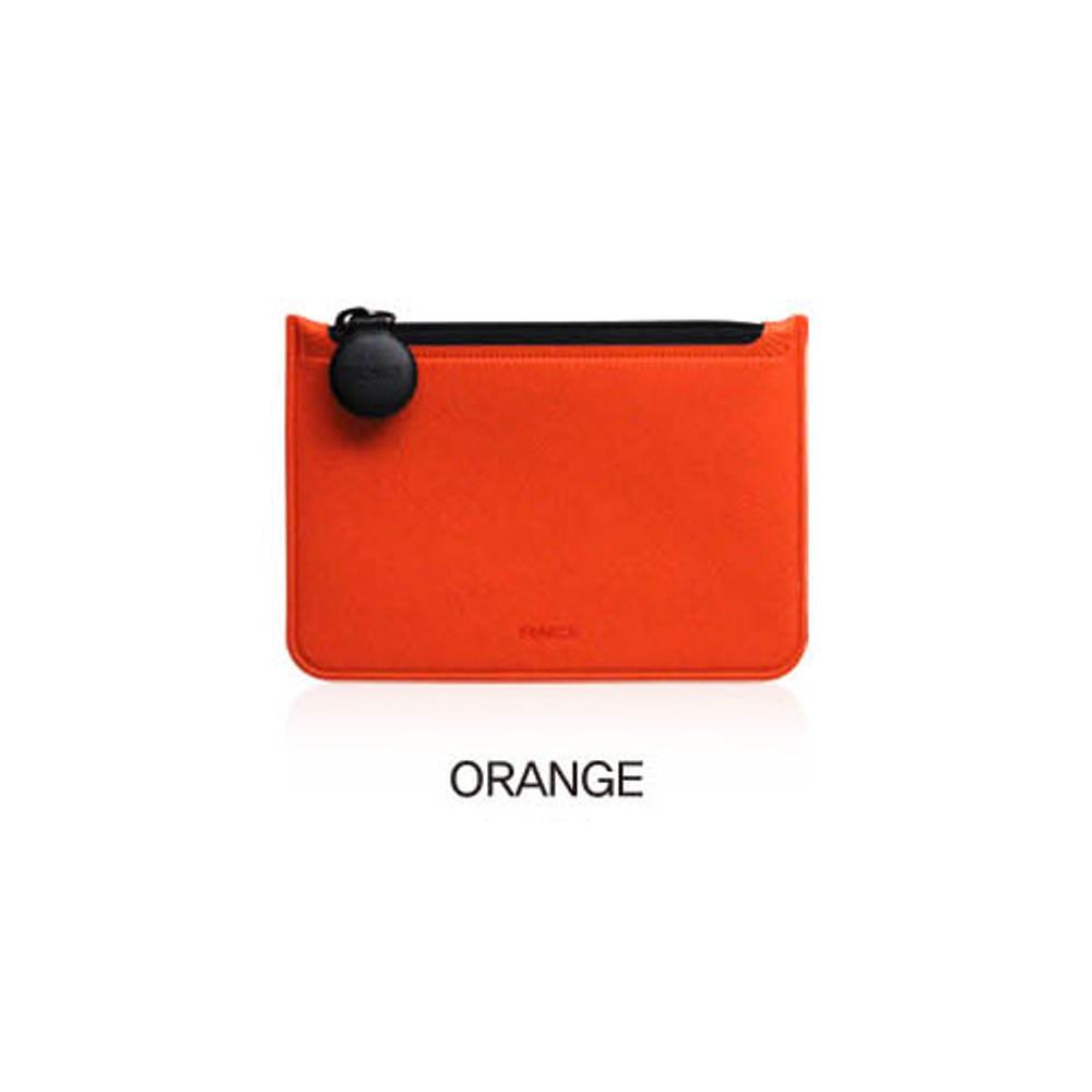 Orange - Fenice Premium PU seamless small pouch bag