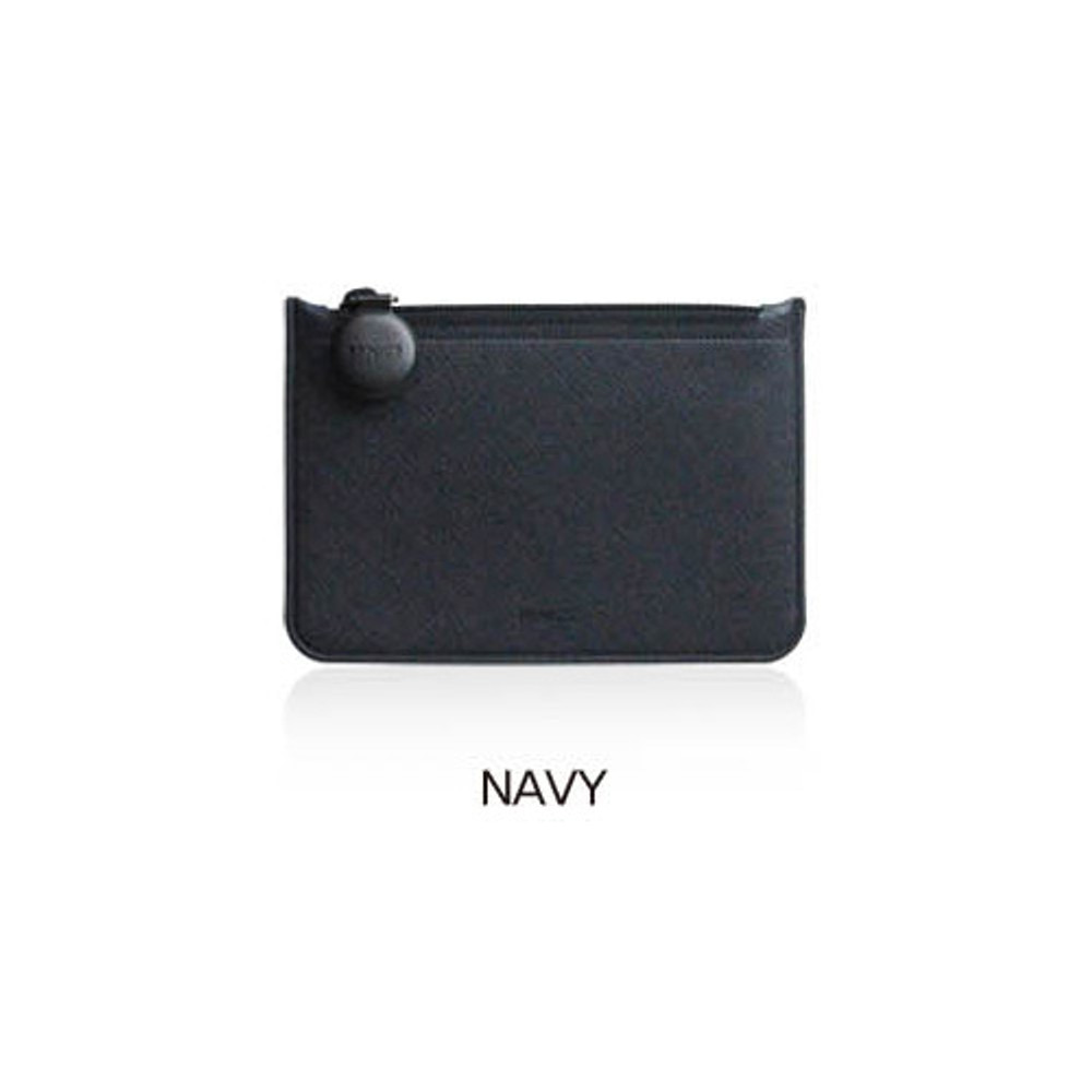 Navy - Fenice Premium PU seamless small pouch bag
