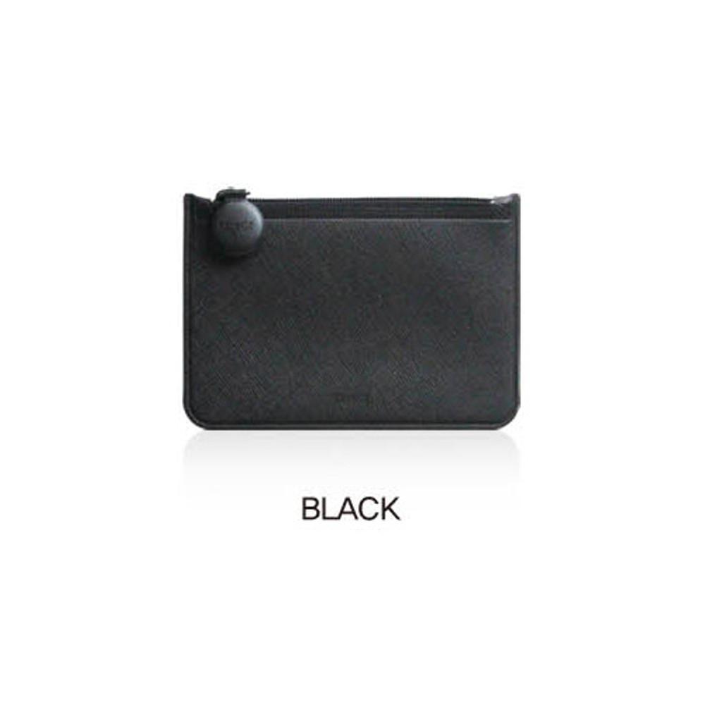 Black - Fenice Premium PU seamless small pouch bag