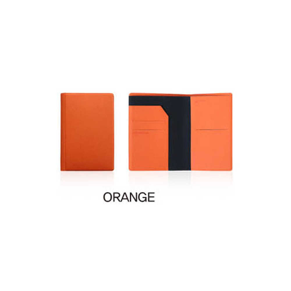 Orange - Fenice Premium PU RFID blocking small passport case holder wallet