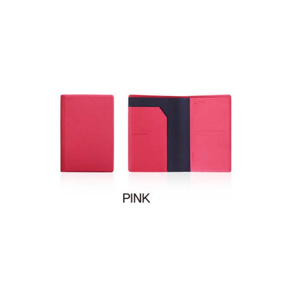 Pink - Fenice Premium PU RFID blocking small passport case holder wallet