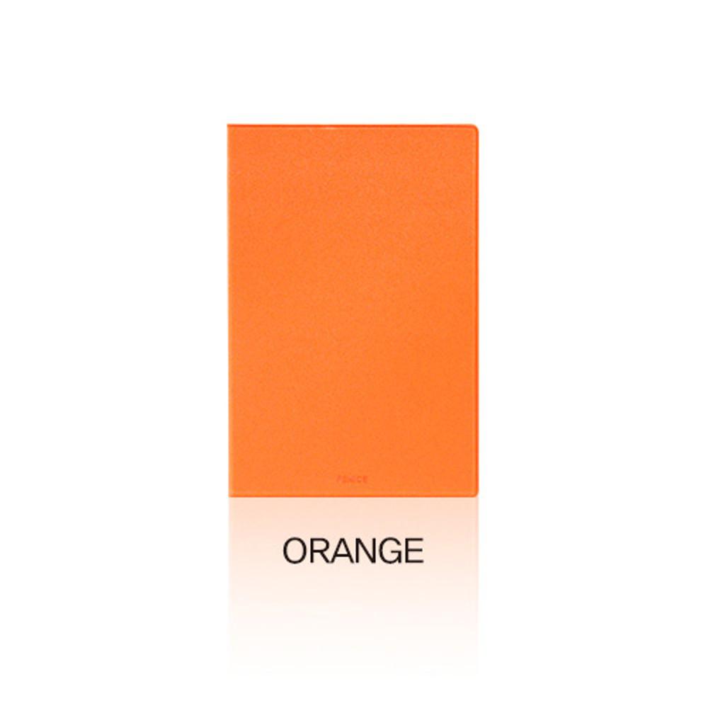 Orange - Fenice Premium PU business A5 size notepad holder organizer