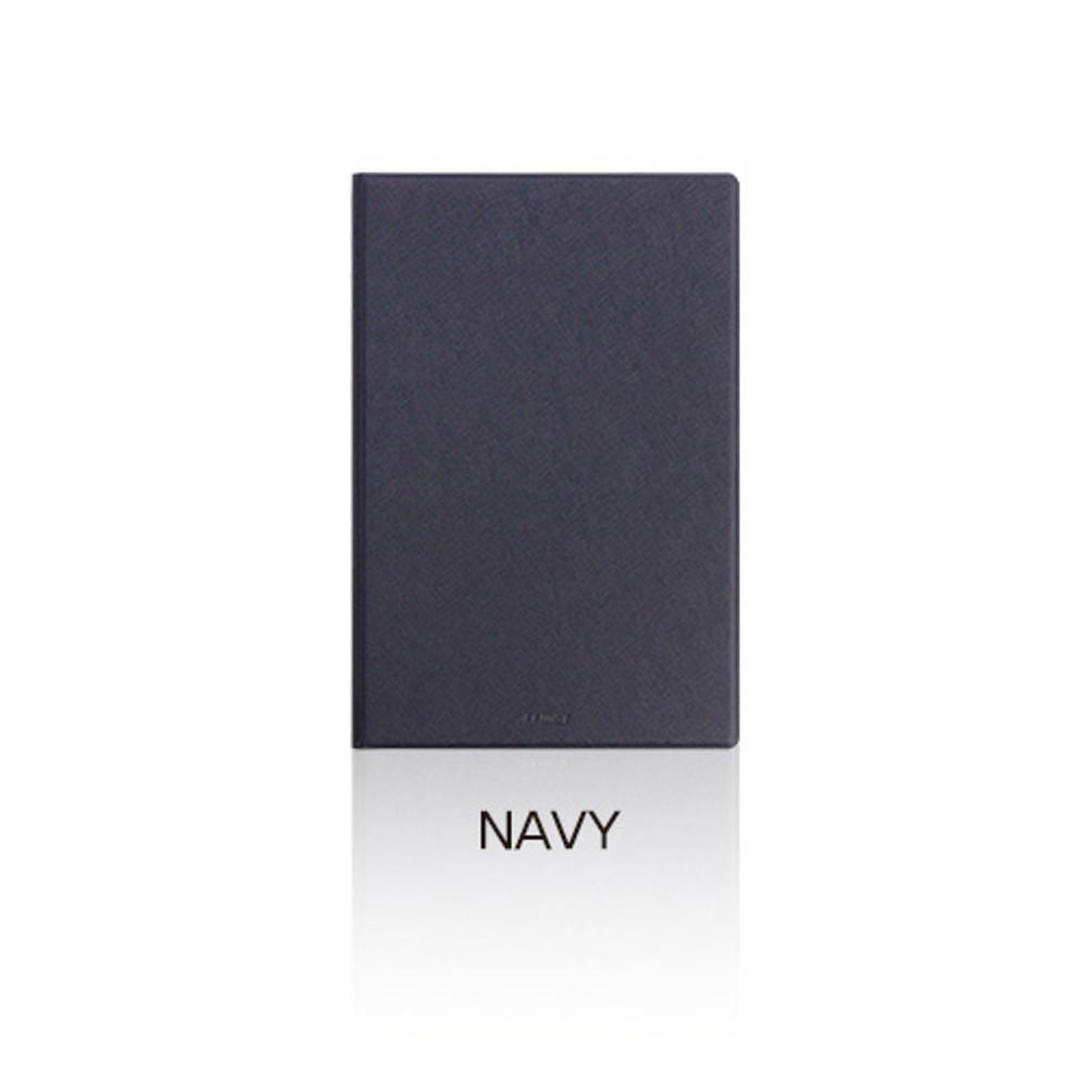 Navy - Fenice Premium PU business A5 size notepad holder organizer