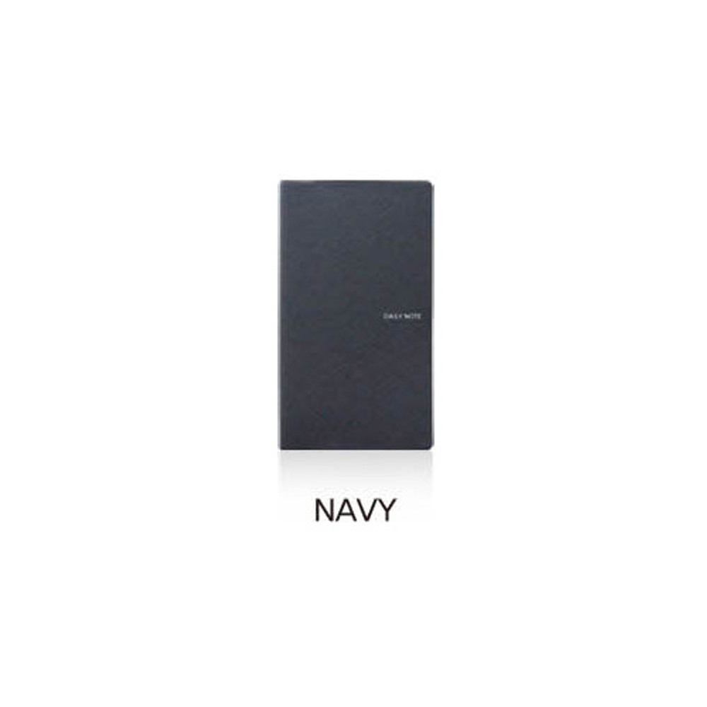 Navy - Fenice Premium business PU soft cover small dotted notebook