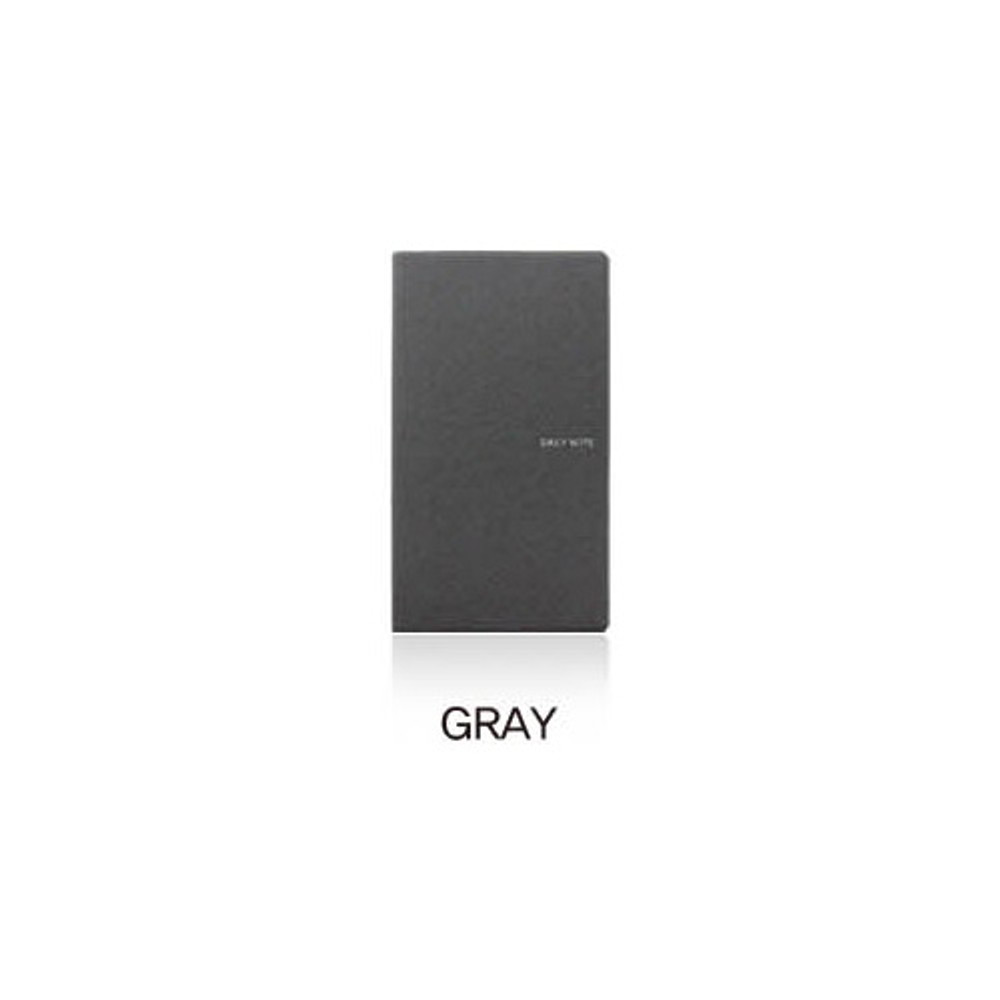 Gray - Fenice Premium business PU soft cover small dotted notebook