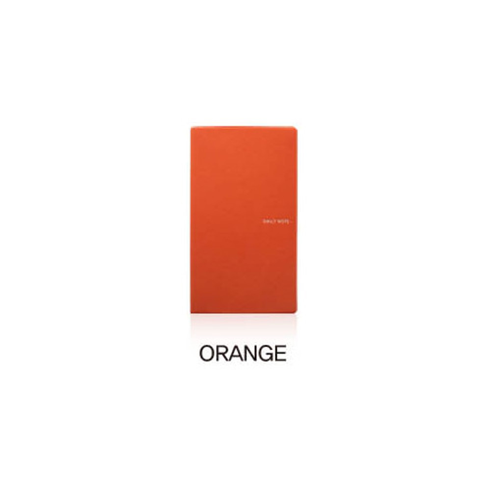 Orange - Fenice Premium business PU soft cover small dotted notebook